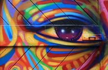 Graffiti Ojo Colores Berlín 6187-f15