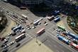 belebte Straßenkreuzung in Seoul Südkorea