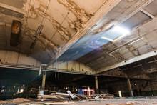 Lightbeam Shines Into Derelict Warehouse