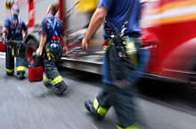 Fire Trucks And Firefighters B...