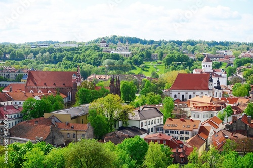 Photo Stands Kiev View from Gediminas castle to the old Vilnius
