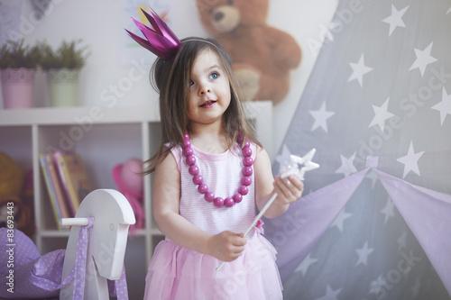 Fotografie, Obraz  Sní o tom, že princezna se stává skutečností