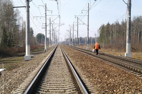 Photo sur Toile Voies ferrées Railway