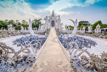 Thailand Temple Or Grand White Church Call Wat Rong Khun,at Chia