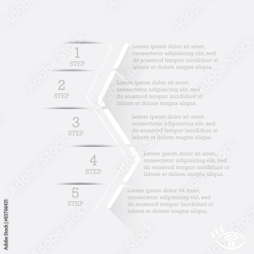 Photo  Infographics. Step by step illustration of action
