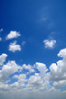 Blue sky with white clouds for background.