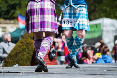 Fototapeta Traditional scottish Highland dancing obraz