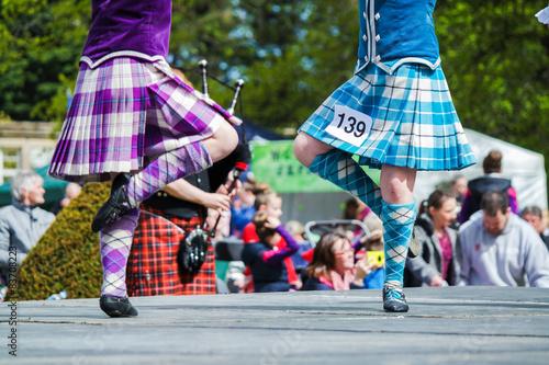 Fototapeta Traditional scottish Highland dancing obraz