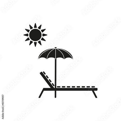 Fototapeta The lounger icon. Sunbed symbol. Flat