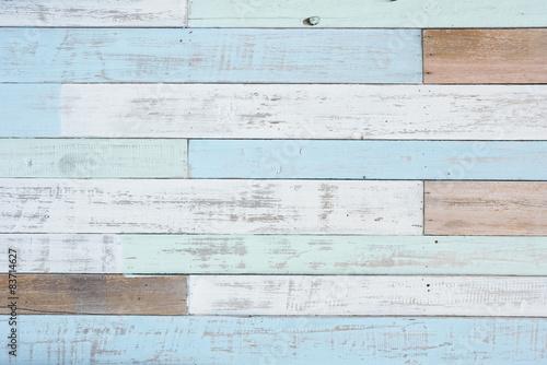 Fotografie, Obraz  Pastel wood wall texture