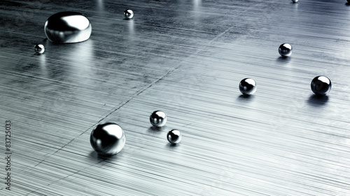 Fotografie, Obraz  metal drops