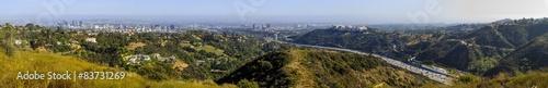 Foto op Aluminium Algerije Los Angeles urban and freeway view from top