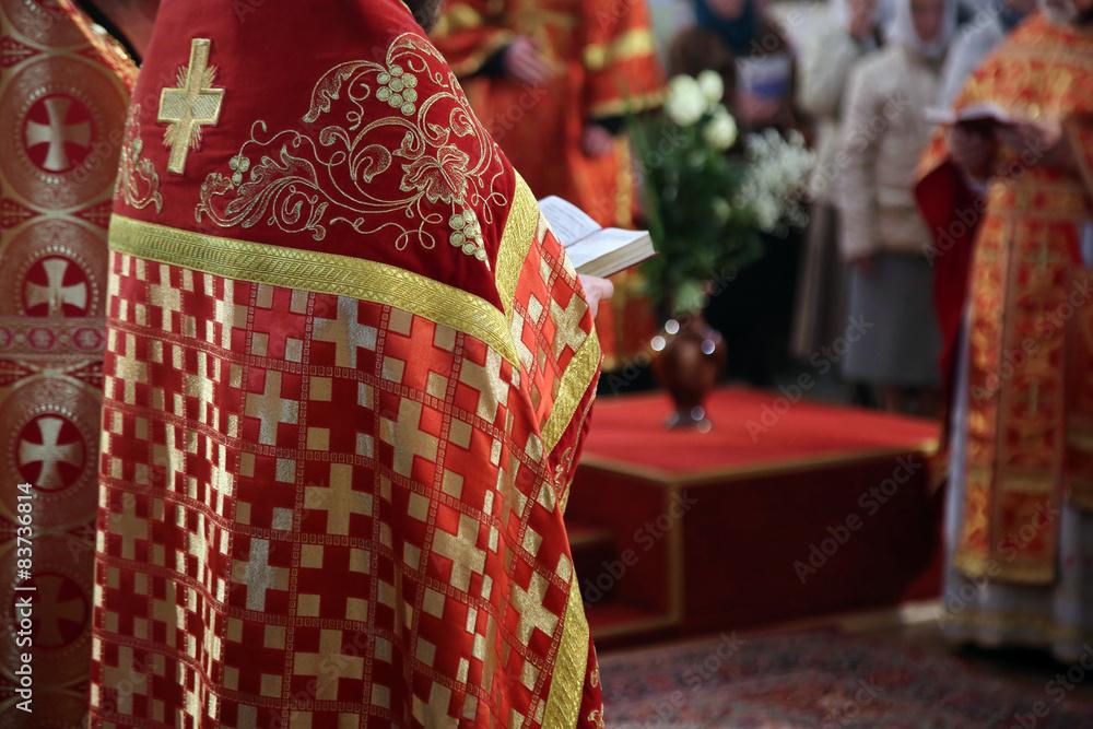 Fototapety, obrazy: Orthodox priest of the church