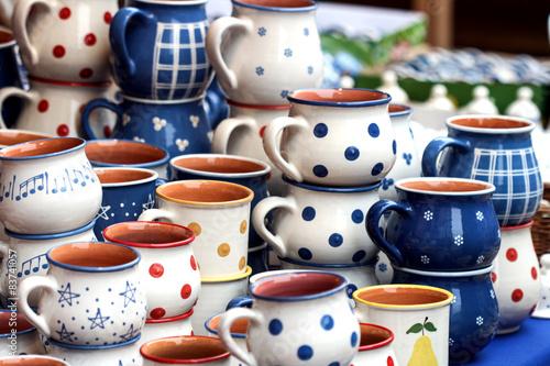 Printed kitchen splashbacks Fairytale World Pottery in the market