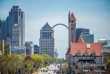 Saint Louis Missouri Downtown At Daylight
