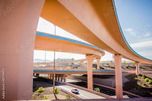Photo highway bridges near Albuquerque new mexico