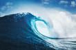 canvas print picture - Blue Ocean Wave, Epic Surf