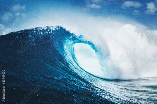 Fototapeta Blue Ocean Wave, Epic Surf obraz
