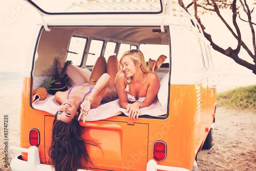 Photo  Surfer Girls Beach Lifestyle