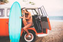 Surfer Girl Beach Lifestyle