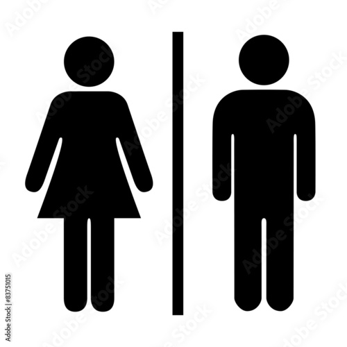 Man and woman silhouette Poster