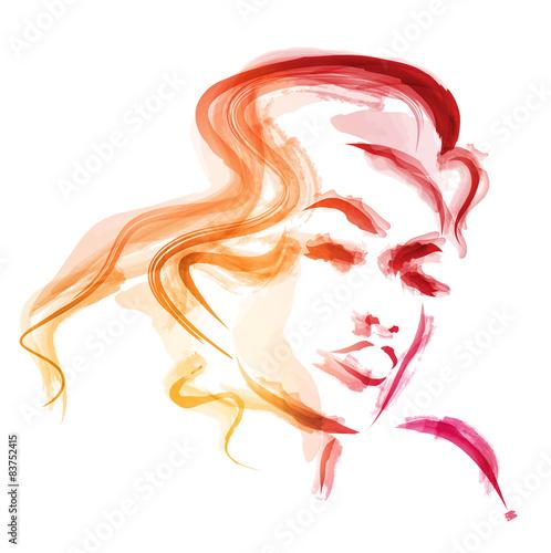 kobieta-akwarela-wektor