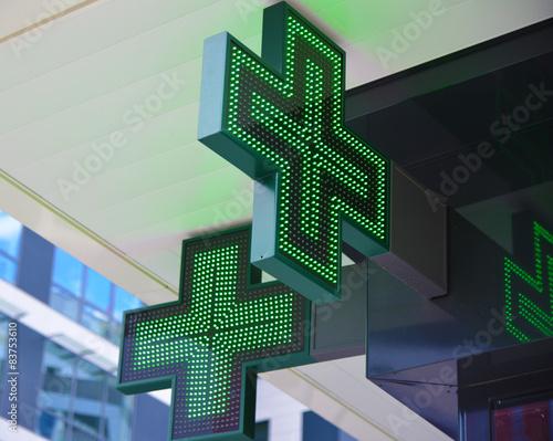 Stickers pour portes Pharmacie Croix verte de pharmacie