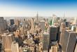 Amazing aerial view of Manhattan skyline - New York City