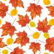 Autumn leaves seamless pattern. Texture for wallpaper, web site