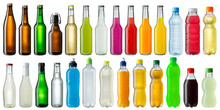 Set Of Various Beverage Bottles