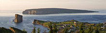 Panoramic View Of Perce Village And Perce Rock, Quebec