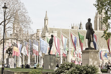 Statues In Parliament Square O...