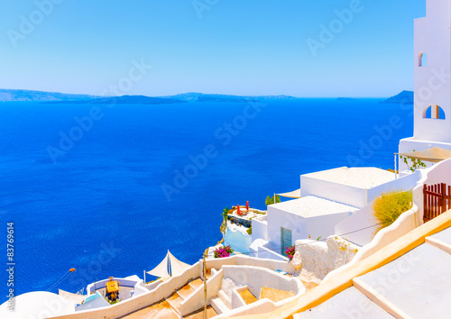 Foto op Aluminium Santorini in Oia the most beautiful village of Santorini island in Greece