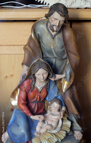 Foto op Plexiglas Bedehuis Nativity scene, birth of Jesus, Bad Ischl, Austria