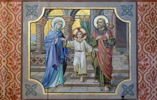 Fototapeta Holy Family, parish church of St. Nicholas in Bad Ischl, Austria