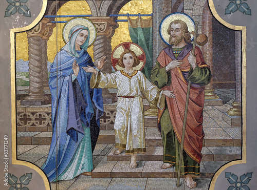 Obraz na plátně Holy Family, parish church of St. Nicholas in Bad Ischl, Austria