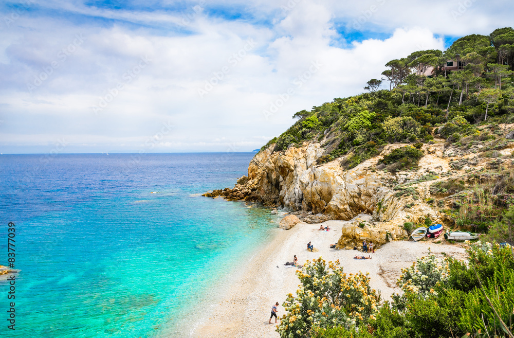 Fototapety, obrazy: Elba island panoramic view of Sansone beach, Tuscany,Italy.