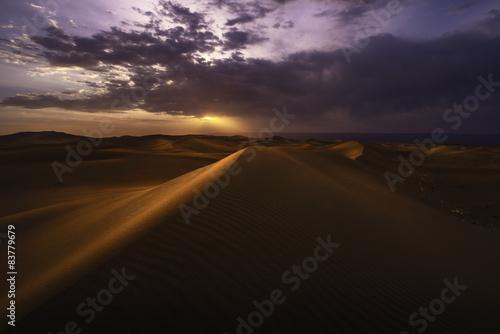 Poster de jardin Desert de sable Sunset over the desert