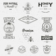 Honey badges logos and labels for any use