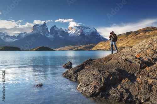 Valokuva  National park Torres del Paine, Patagonia, Chile