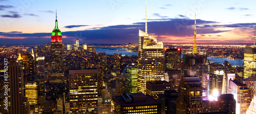 New York City skyline panorama at dusk, United States #83782437