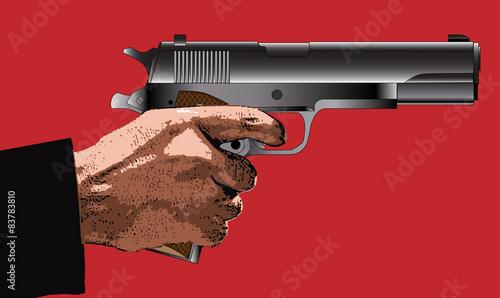 Valokuva  Holding a Gun
