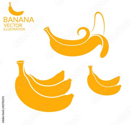 Fotografie, Tablou  Banana. Set