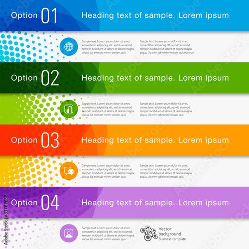Infographics Web Banner & Label Design Wall mural