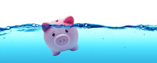 Piggy Bank Drowning In Debt - ...