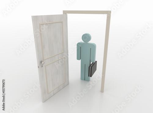 Open front door illustration Perfect Businessman In Front Of An Open Door 3d Render Adobe Stock Businessman In Front Of An Open Door 3d Render Buy This Stock