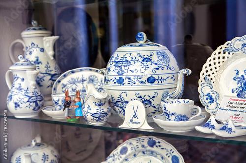 Fotografie, Obraz  Famous trademark Meissen porcelain