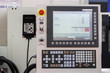 Control panel of a cnc machine