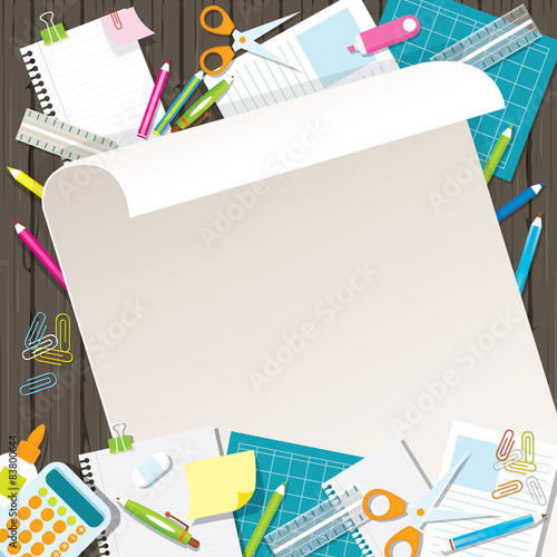 Cadres-photo bureau Avion, ballon Office Supplies and Stationery Paper Background and Frame