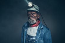 Humorless Bearded Old Miner St...